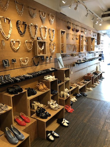 Shoes and accessories display from & Other Stories (Image