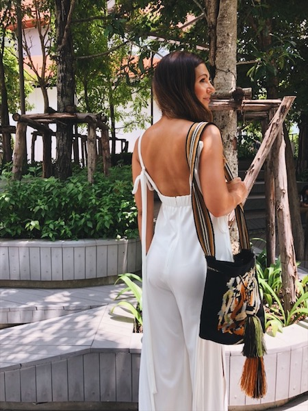 white jumpsuit Bangkok