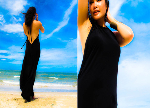 Onuma black maxi dress