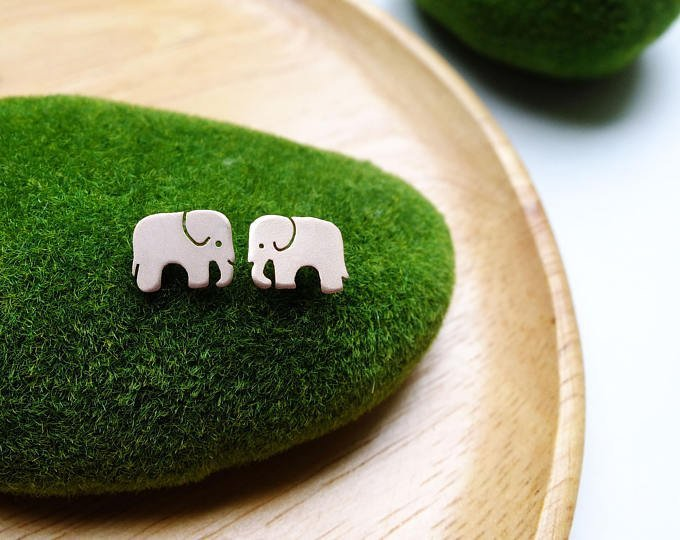 elephant earrings bangkok jewelry