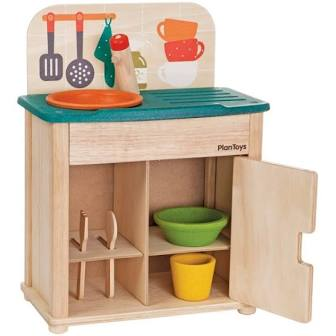 Plantoys wooden play kitchen
