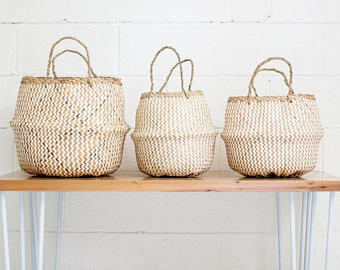 baskets baby room decor