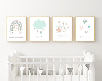 nursery baby room decor wall pictures